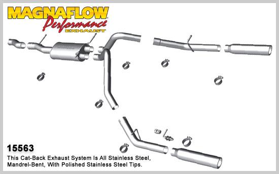 Magnaflow 15563: Exhaust System for 2010-11 4.8L 5.3L