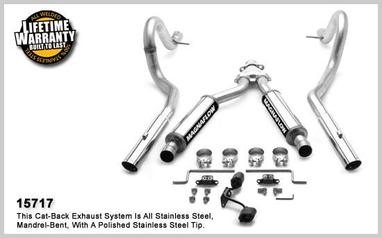 Magnaflow 15717: Exhaust System Mustang 3.8L 99-04 V6