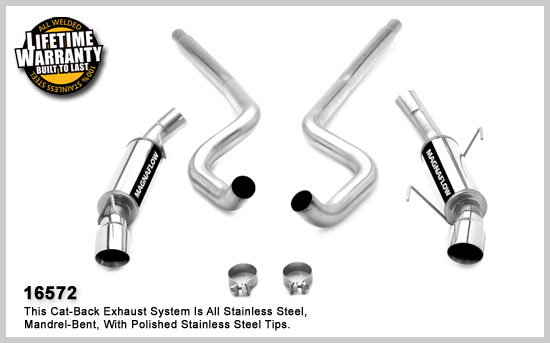 Magnaflow 16572: 2010 Mustang GT V8 Exhaust System 3in