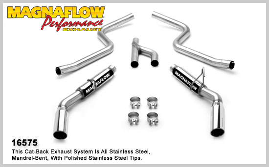 Magnaflow 16575: 2010 Mustang V6 Exhaust System V8 Style