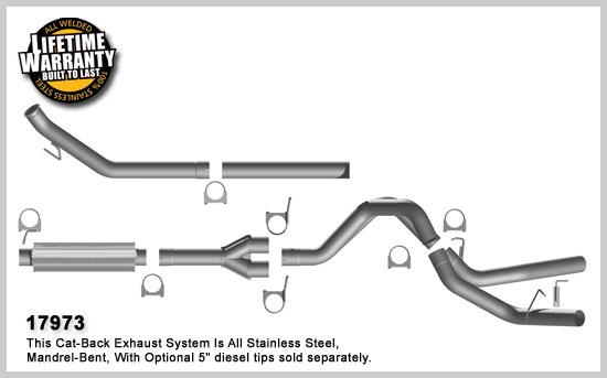 Magnaflow 17973: Exhaust System for DODGE CUMMINGS DIESEL