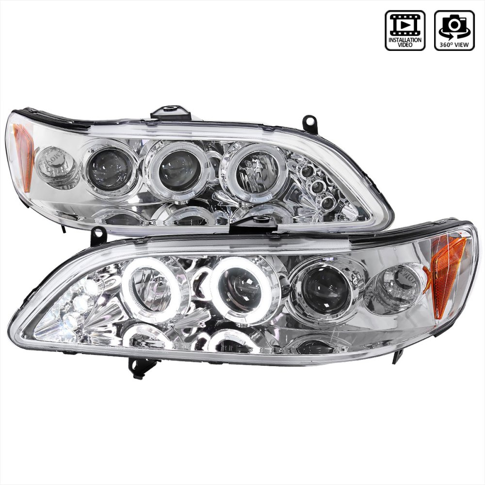 medium resolution of spec d tuning 2lhp acd98 tm honda accord halo led projector chrome 1998 2002
