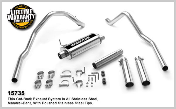 Magnaflow 15735: Exhaust System for DODGE DAKOTA 1997-1999