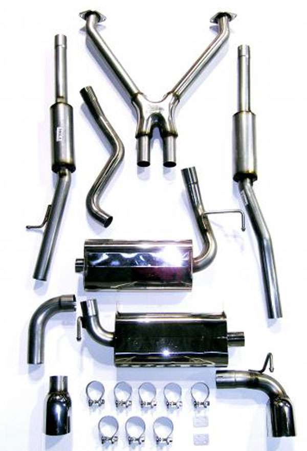 bassani 350z5 exhaust system for 350z 2 dr coupe 3 5l stainless steel 2003 2008