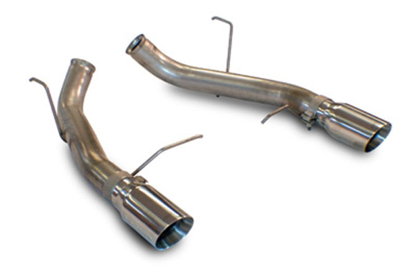 slp m31023 loudmouth exhaust mustang gt gt500 boss 302 axle back w 4 inch tips v8 2011 2014