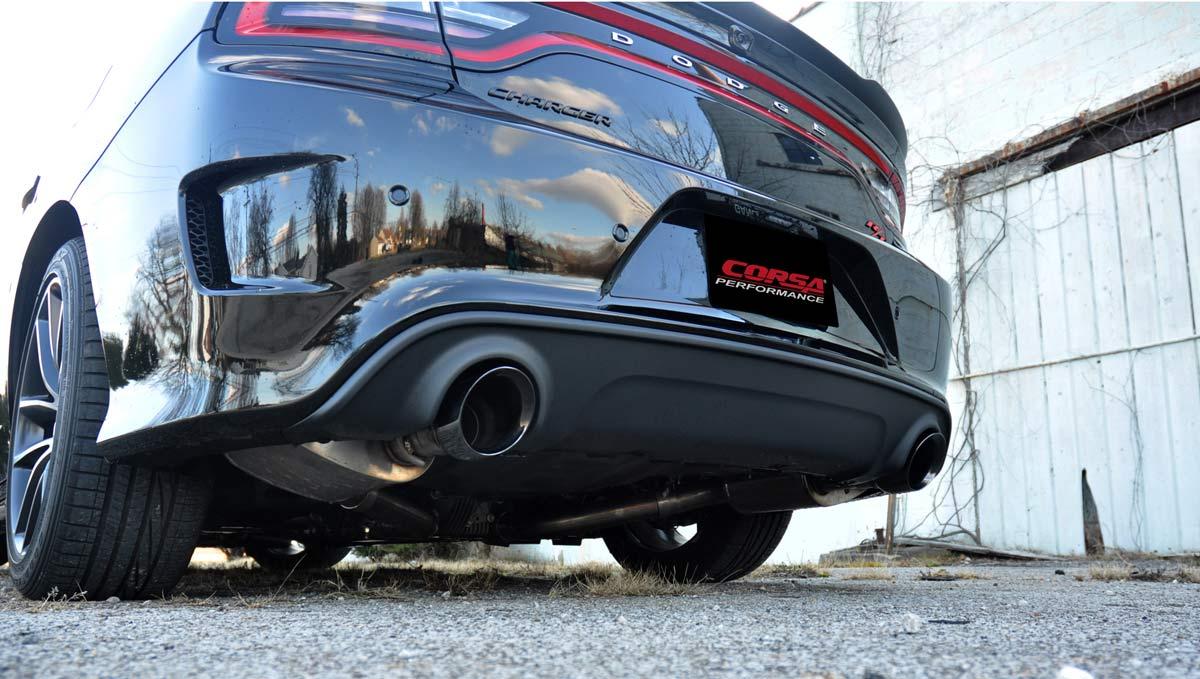 hight resolution of corsa performance 14996blk corsa dodge charger srt scat pack hellcat 2 75 cat