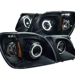 anzo 111170 anzo usa lexus lx470 projector headlights w halo lexus lx470 headlight wiring harness  [ 1500 x 1500 Pixel ]