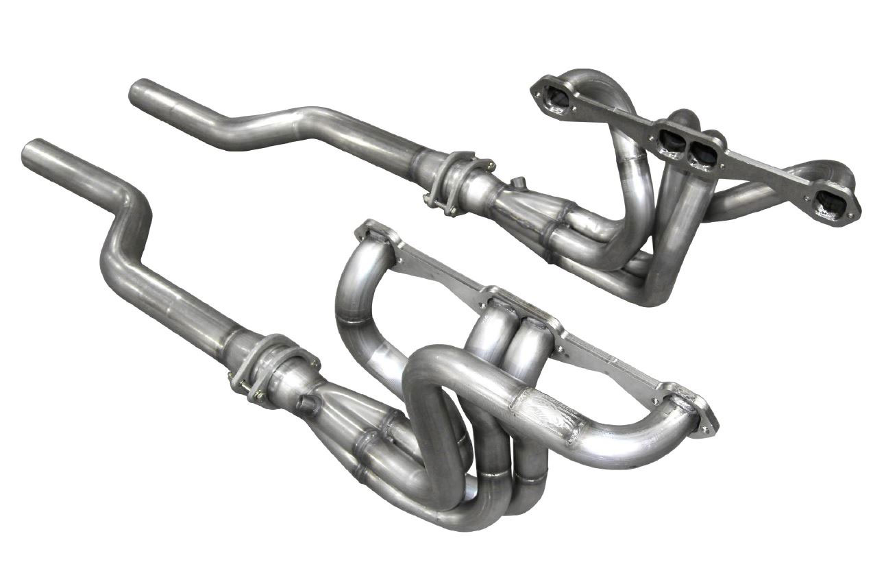 american racing headers c3 73158212ls arh chevrolet corvette c3 long system 1 5 8 x 2 1 2 header 2 1 2in connection pipes to mid section standard port small block chevy 1973 1982