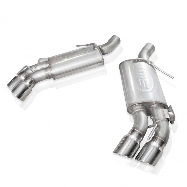 stainless works ca16rvmksfc camaro ss axleback exhaust with valved quad tips for factory tailpipes 2016 2018