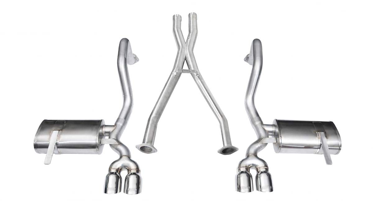 corsa performance 14114 corsa exhaust system for corvette c5 includes z06 xtreme system w twin 3 5 pro series tips includes xo pipe 1997 2004