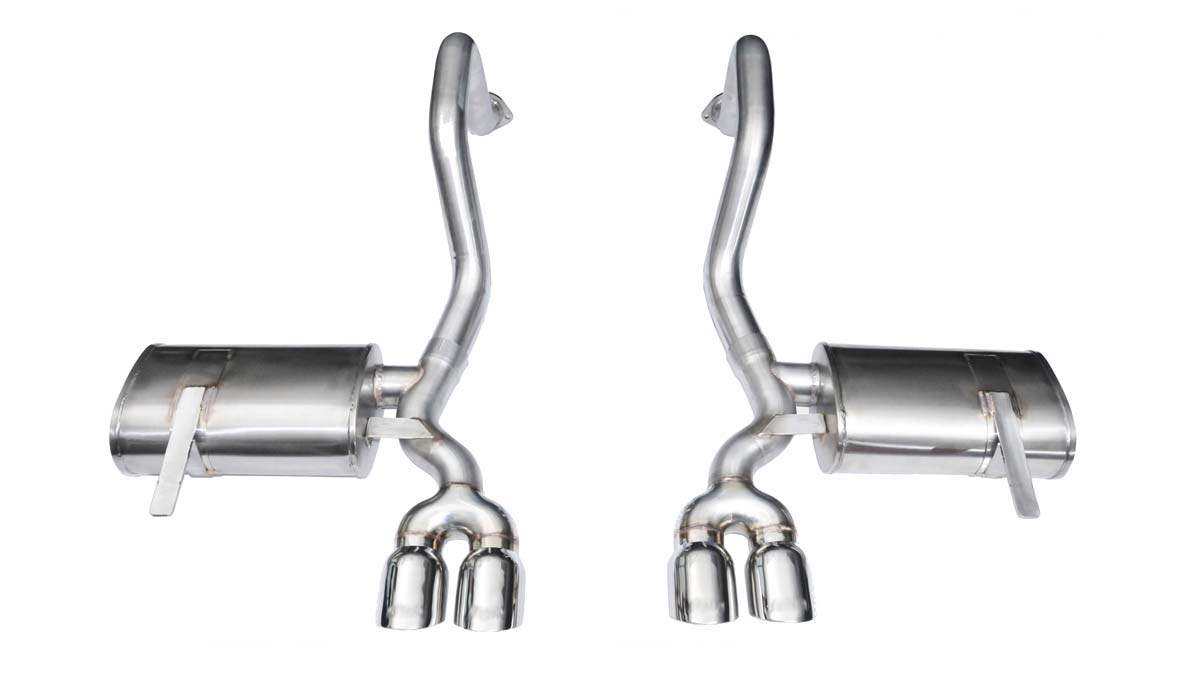 corsa performance 14132 corsa exhaust system for corvette c5 includes z06 xtreme system w twin 3 5 pro series tips 1997 2004