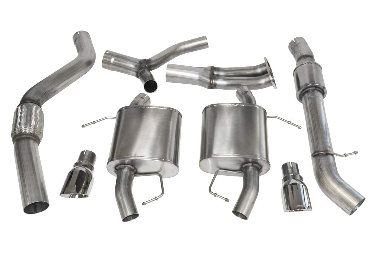 corsa performance 14861 corsa bmw 335i cat back exhaust e92 coupe sport 3 5 dual rear exit with single 4 inch polished pro series tips 2007 2012