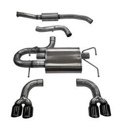 corsa performance 14862blk corsa subaru impreza cat back exhaust wrx hatchback 2 5l turbo sport 3 inch dual rear exit with twin 3 5 inch black  [ 1200 x 679 Pixel ]