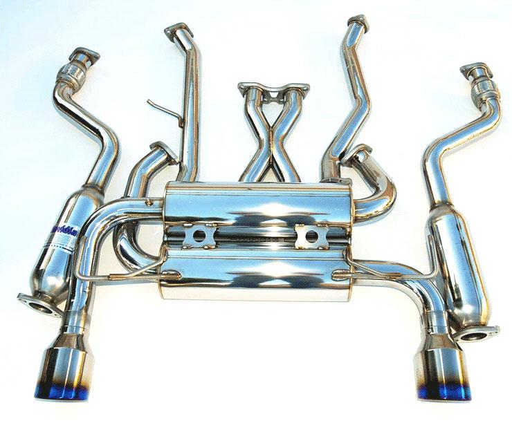 invidia hs03ig3git g35 coupe gemini single layer titanium tips cat back exhaust system 2003 2006
