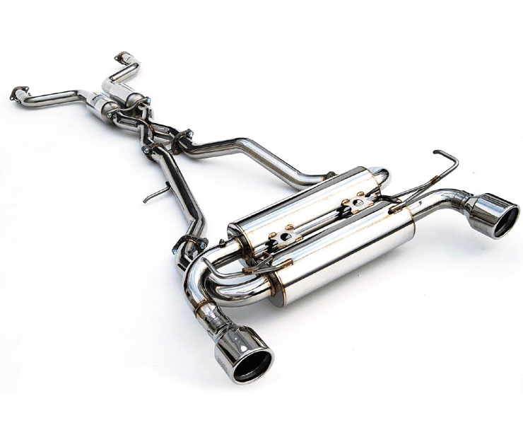 invidia hs07ig7gis g37 coupe gemini rolled s s tips cat back exhaust system 2007 2016