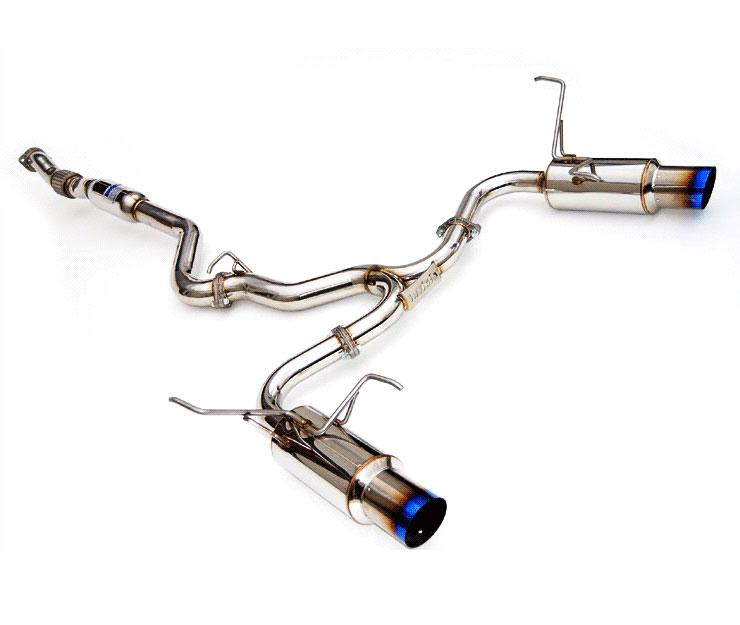 invidia hs15stigtt wrx sti 4 door n1 twin out let titanium tip cat back exhaust system 2015 2016