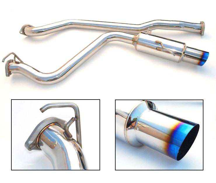 invidia hs15sw4gst wrx sti single racing n1 titanium tip cat back exhaust system 2015 2016