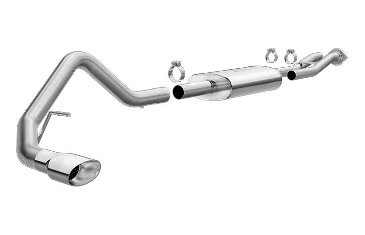 magnaflow 15837 exhaust system for gm escalade esv ext yukon denali xl 6 0l single straight rear exit 2003 2006