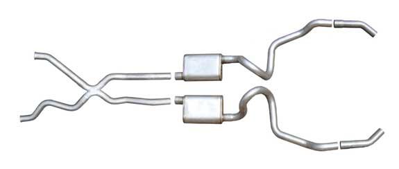 Pypes Exhaust SGI10V: Pypes IMPALA 94-96 SS 2.5'' Cat-back