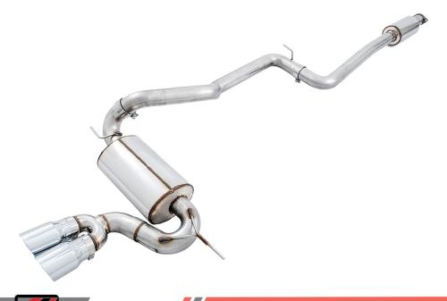 small resolution of awe tuning 3020 32034 ford focus st 2 0l turbo track edition cat back exhaust