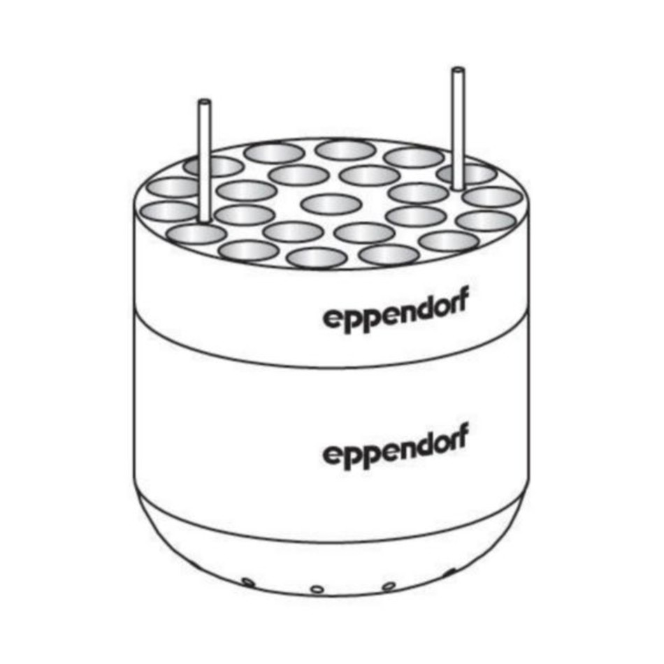 Eppendorf Adapter for 23 x round bottom tubes diameter 13