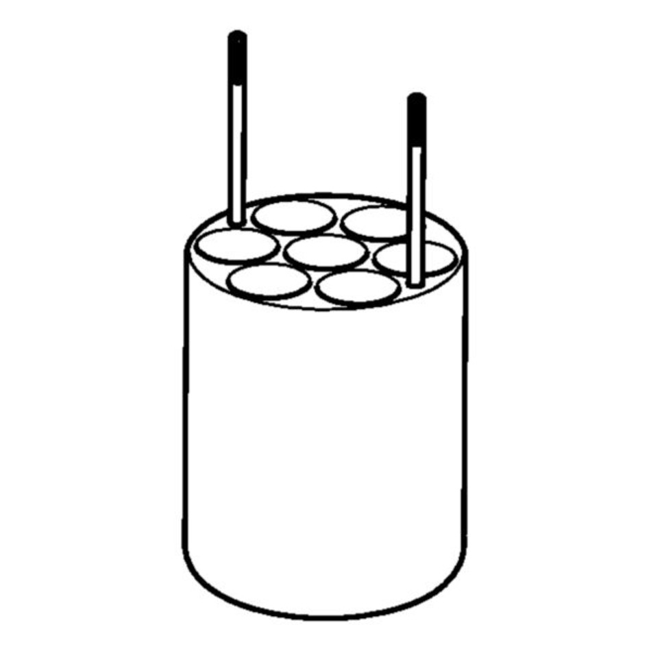Adapter for 7 x Ø17.5mm dish- bottomed vessels, for FA
