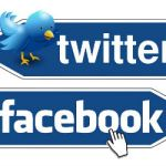 twitter and facebook