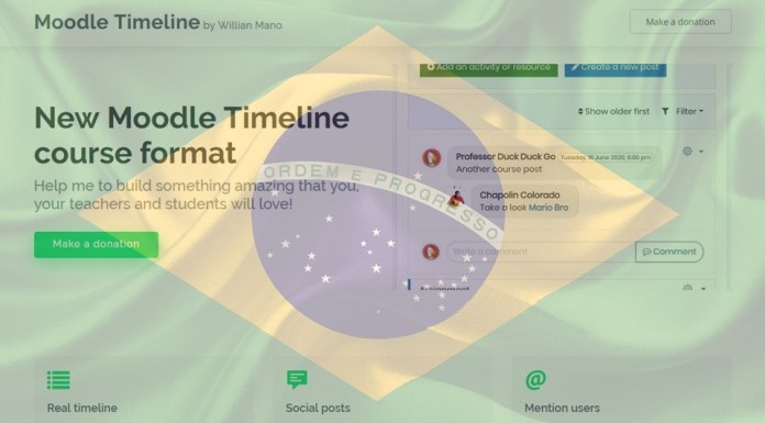 william mano moodle timeline donations welcome