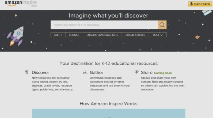 Amazon Inspire OER Store Launches Second Beta Version | Amazon Vuelve a Intentar 'Inspire', su Repositorio OER