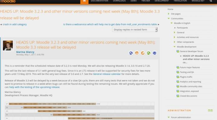 BREAKING: Moodle 3.3 Delayed