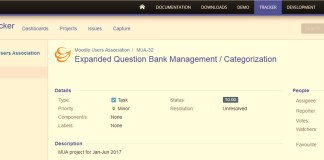 You Can Now Submit And Discuss Moodle Projects For MUA's Development Cycle Through The Moodle Tracker