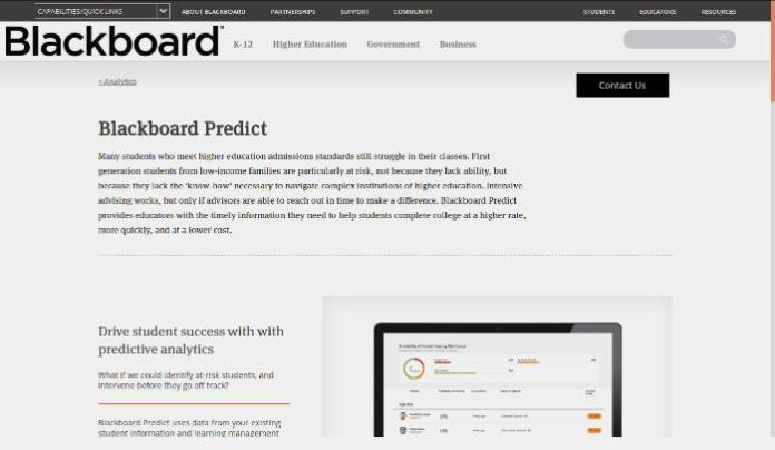 Moodle Partner BlackBoard Enters The Predictive Analytics For Learning Race With Blackboard Predict