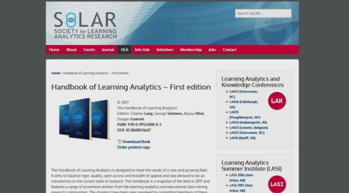 The Learning Analytics Roadmap: SOLAR's Handbook Of Hard Theory [LAR Series #11]