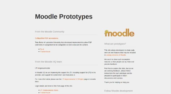 We Tried The Prototype Features For Moodle 3.2
