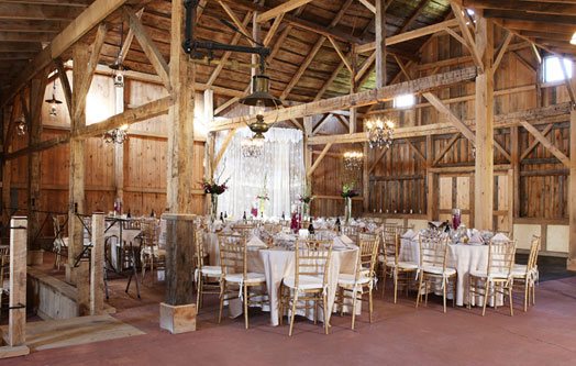 The Barn at Hogs Hollow Farm at LM Townsend Catering in Cooperstown NY  The National Hall of