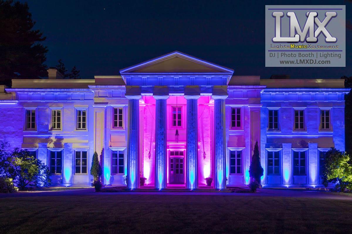 wadsworth mansion architectural lighting lmx dj entertainment