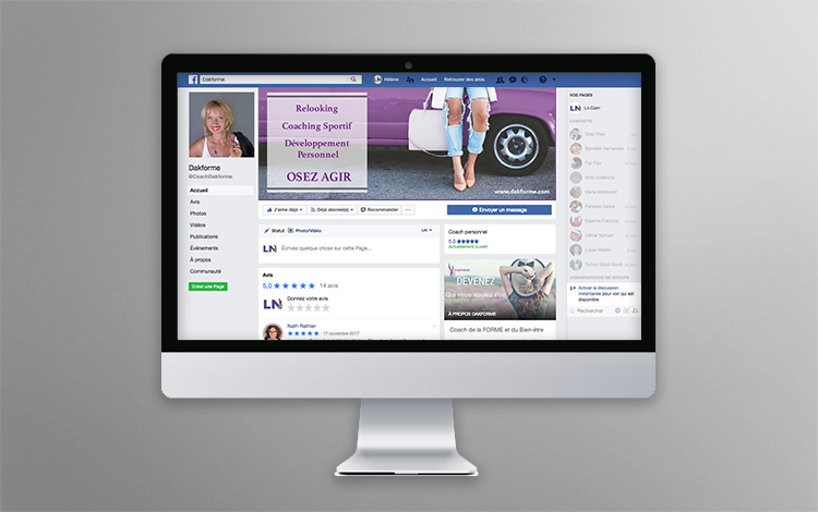 Création banner Facebook - Coach relooking