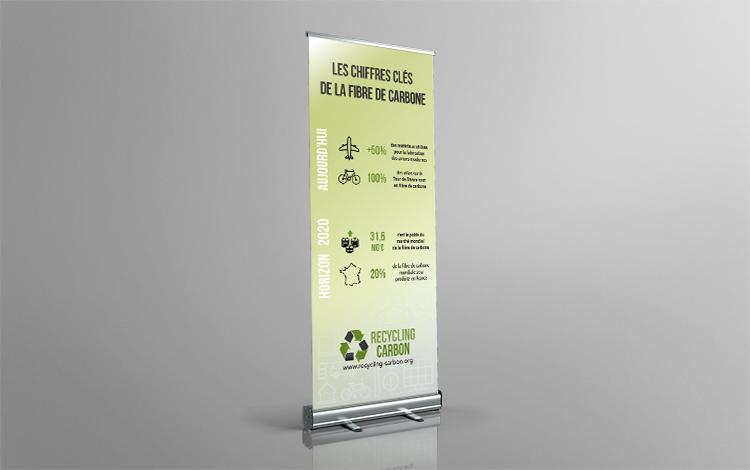 Création kakémono - Association eco-responsable en Essonne