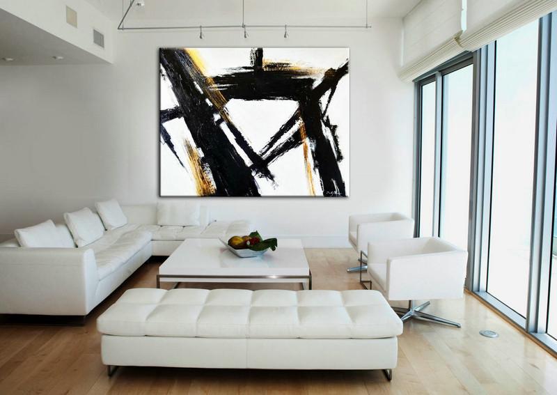 living room art black