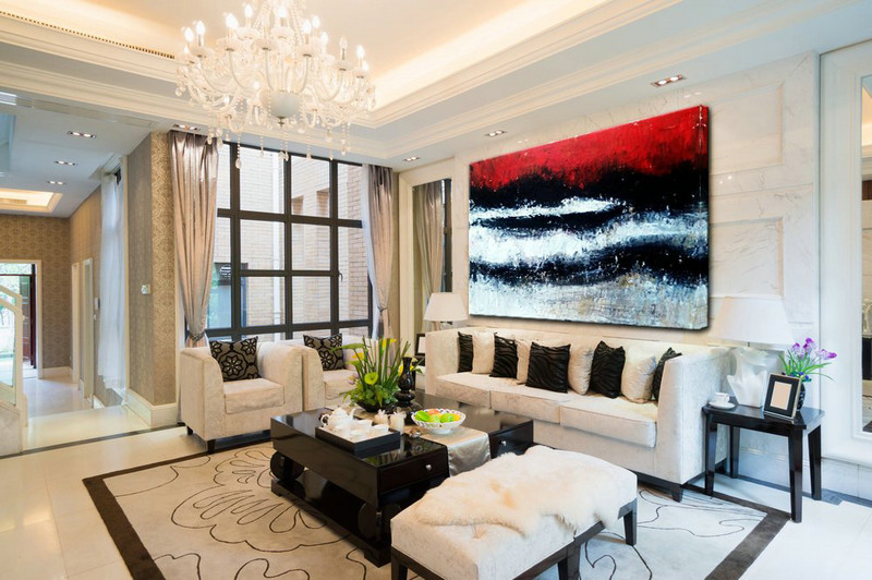 large abstract art living