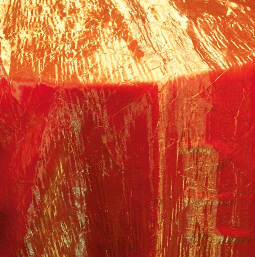 Crushed Iridescent Orange Tablecloth  Specialty Linen