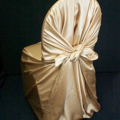 Gold Chair Covers To Rent Costco Chairs Folding Satin Self Tie Cover Specialty Linen Rental