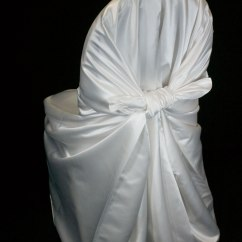Satin Chair Covers Rental Naperville Il And Stool In One Ivory Self Tie Cover Specialty Linen