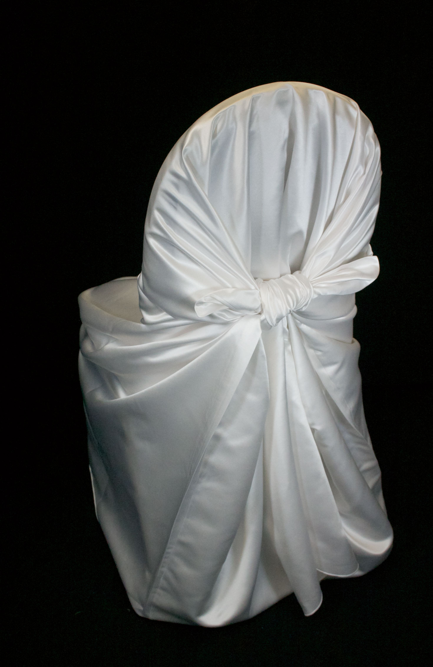 ivory ruched chair covers kitchen cheap satin self tie cover specialty linen rental