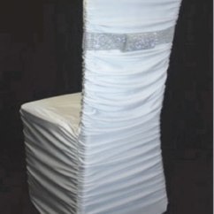 Ruched Chair Covers Sewing Machine Chairs White Cover Over Chiavari Specialty Linen