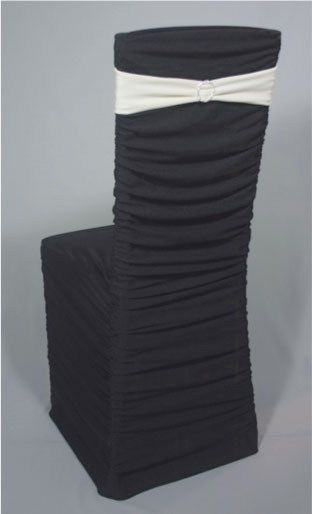 ruched spandex chair cover wheelchair easy drawing black over chiavari - specialty linen rental