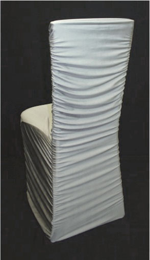 black ruched chair covers best the chairs silver cover over chiavari - specialty linen rental