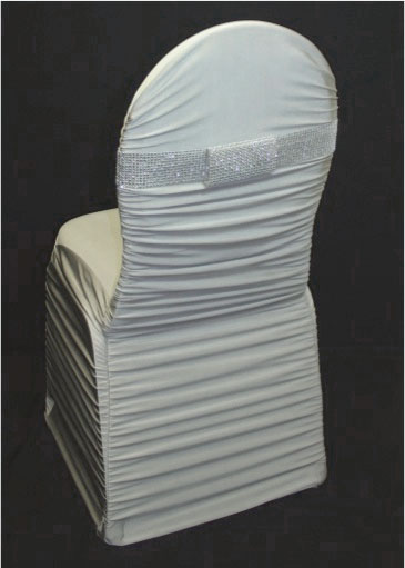 ruched chair covers dining cushions with ties uk silver cover over ballroom specialty linen