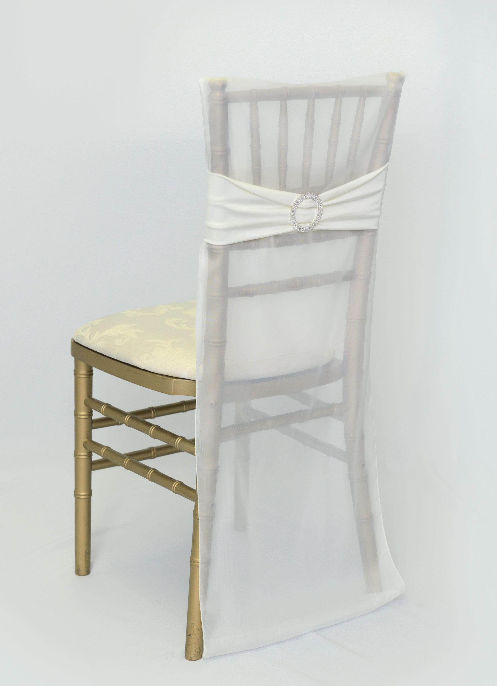 ivory ruched chair covers used for sale chiavari back specialty linen rental