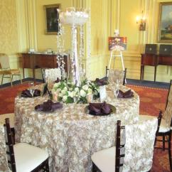 Chair Covers Rental Cleveland Ohio Toddler Rocker Champagne Rosette Back Specialty Linen
